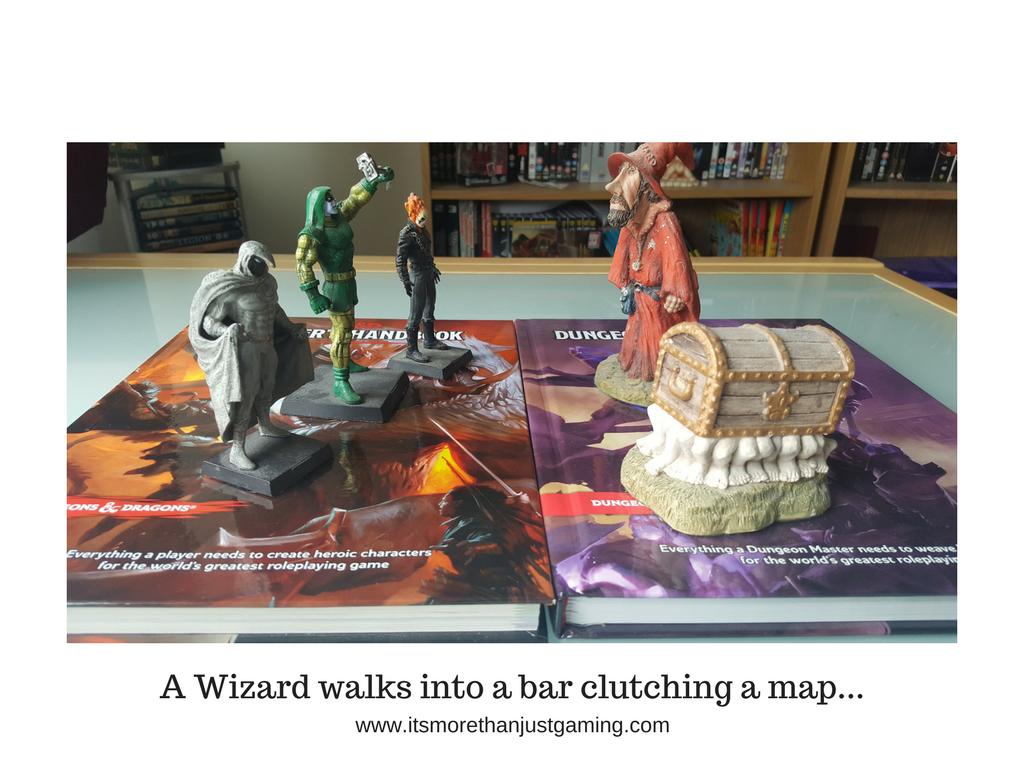 A Wizard walks into a bar clutching a map...
