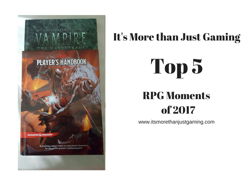 top 5 RPG moments of 2017